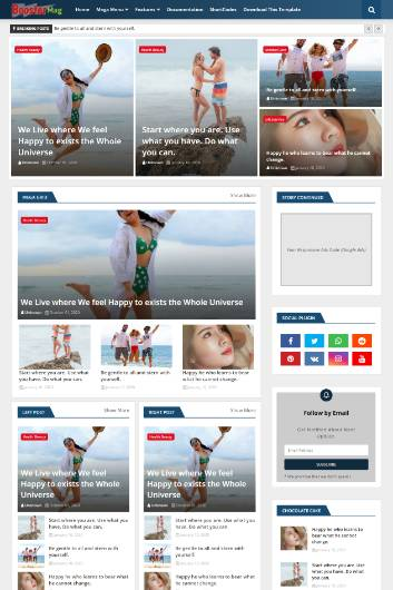 Blogger Template Booster Mag