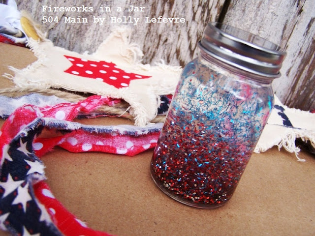 Close up of jar with glitter