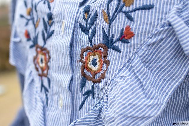 Detalle bordados camisa