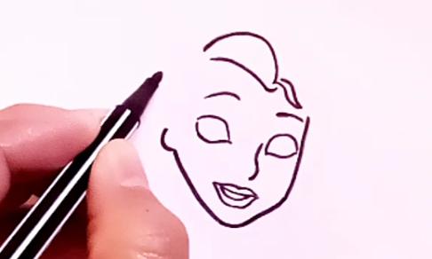 رسم بنات سهل بالرصاص خطوة بخطوة رسم سهل بنات
