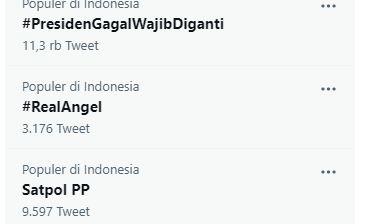 Jokowi 'Diteriaki' Mundur Hingga Tagar #PresidenGagalWajibDiganti Trending di Twitter