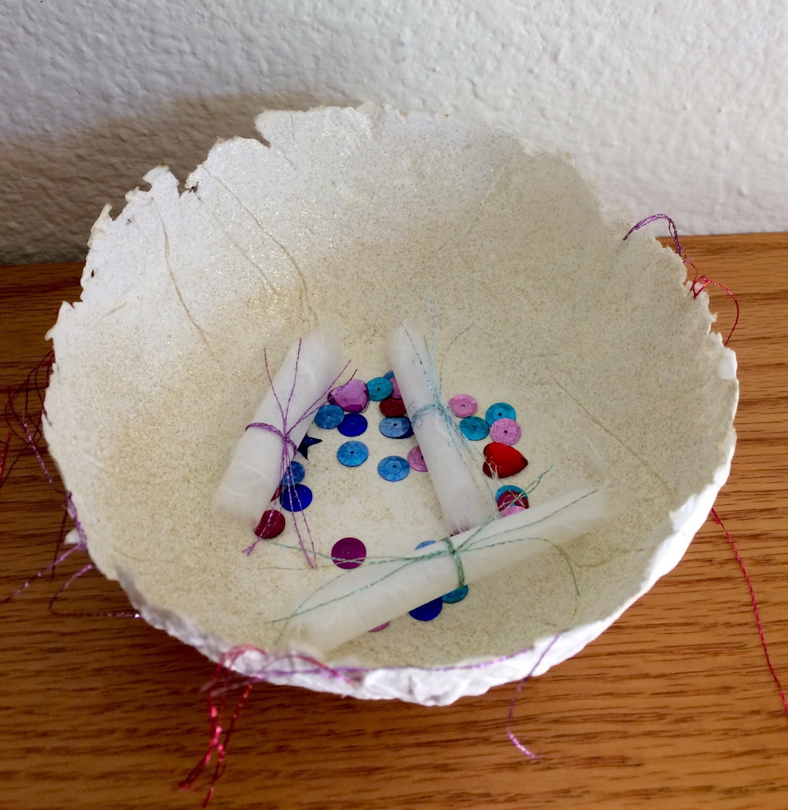 Kathy's Art Project Ideas: Handmade Paper Wish Bowls and