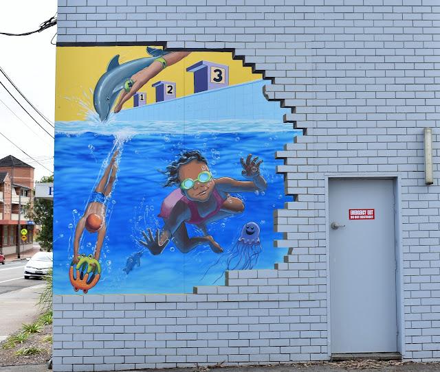 Padstow Street Art   Mural at C & M Aquatic Centre