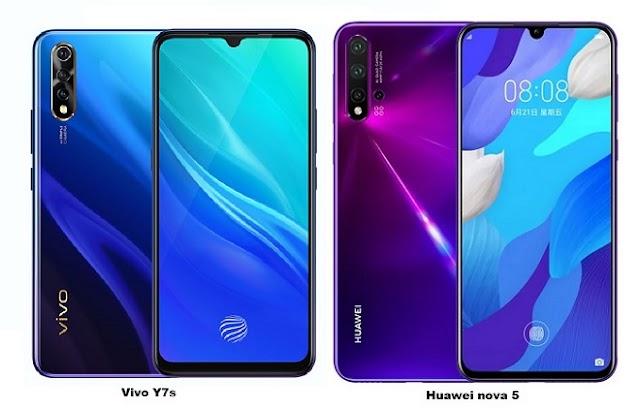 Huawei nova 5 Vs Vivo Y7s Specs Comparison