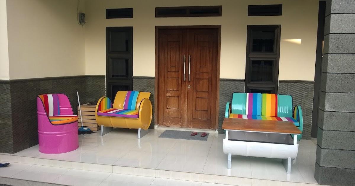 Galeri Umah Tong Desain Sofa Unik Dari Drum Bekas Tampak