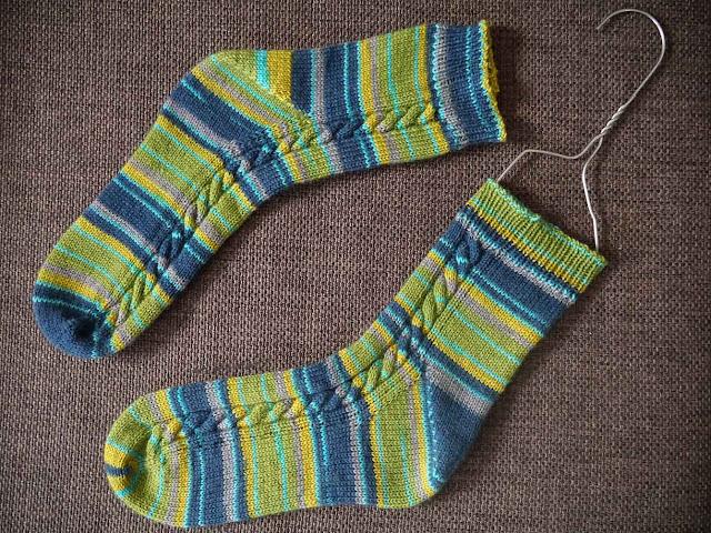 blocage des chaussettes en tricot