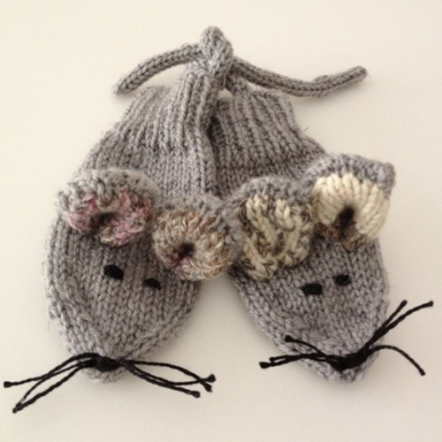 Mouse Mittens - Free Pattern
