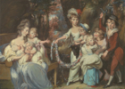 Painting of Mrs. Justinian Casamajor and eight of her children by British artist Daniel Gardner, 1750–1805 Image from the Yale Center for British Art
