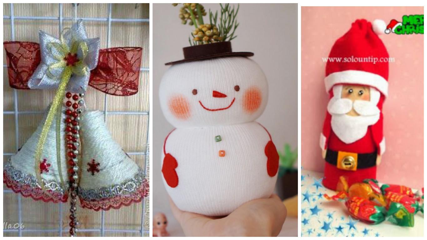 Haz manualidades navide as reciclando botellas y rollos de - Manualidades navidad papel ...