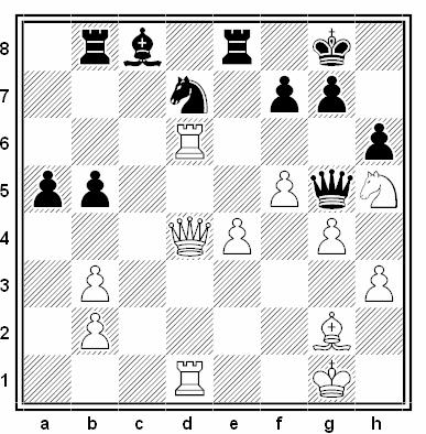 Posición de la partida de ajedrez Vlastimil Hort - Ian Rogers (Biel, 1986)