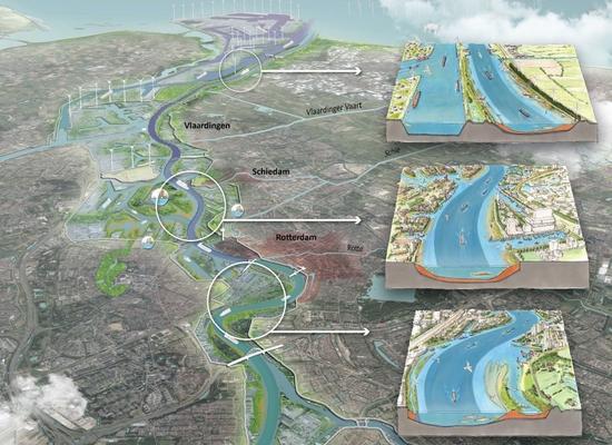 cover foto De Rijnmonding als estuarium : Pleidooi voor een onderzoek naar de mogelijkheid en effecten van een natuurlijke 'verondieping' van de Nieuwe Waterweg