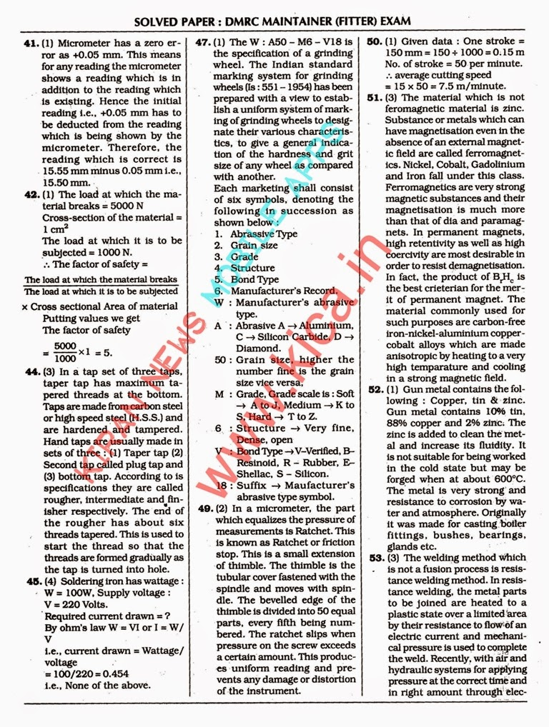 Dmrc Previous Year Papers Pdf