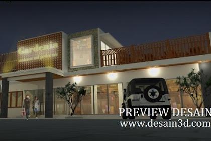 Jasa desain 3d restoran rumah makan sunda modern