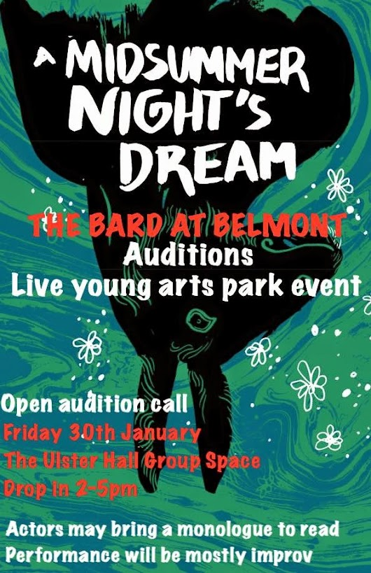 The Bard at Belmont Open audition call