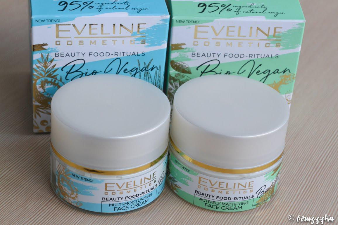 Eveline Cosmetics Beauty Food-Rituals Bio Vegan Actively Mattifying Multi Moisturising Face Cream Review Comparison Naprobu
