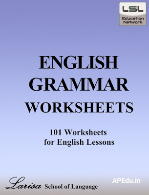 English grammar work sheets with Answers.