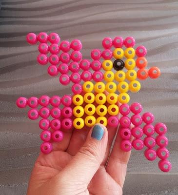 oiseau  perles d'eau