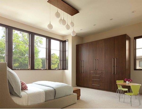 11 armarios de dormitorio con acabados de madera