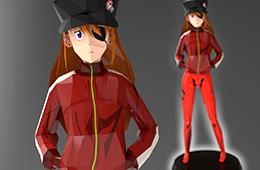 asuka, papercraft, evangelion, anime