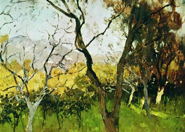 Исаак Ильич Левитан - Весна в Крыму (1). 1900