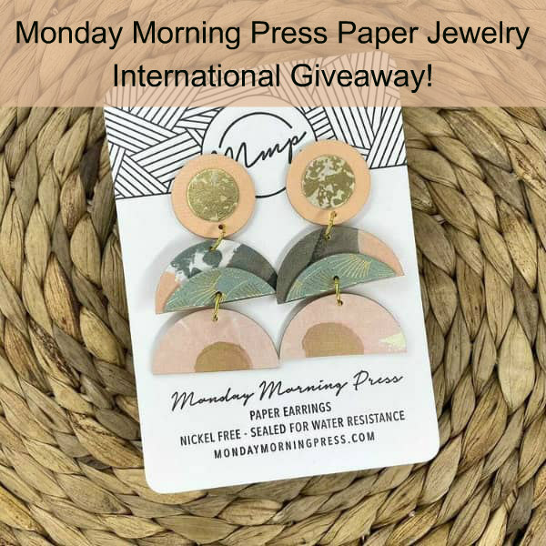 chandelier style paper earrings with three segments