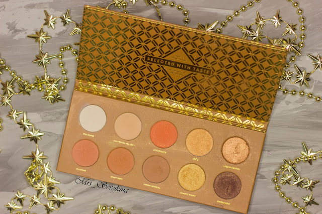 New year make-up 2018: golden accent. Step 7: shade Edible Cem Zoeva Caramel Melange Eyeshadow Palette