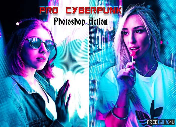 Pro Cyberpunk Photoshop Action