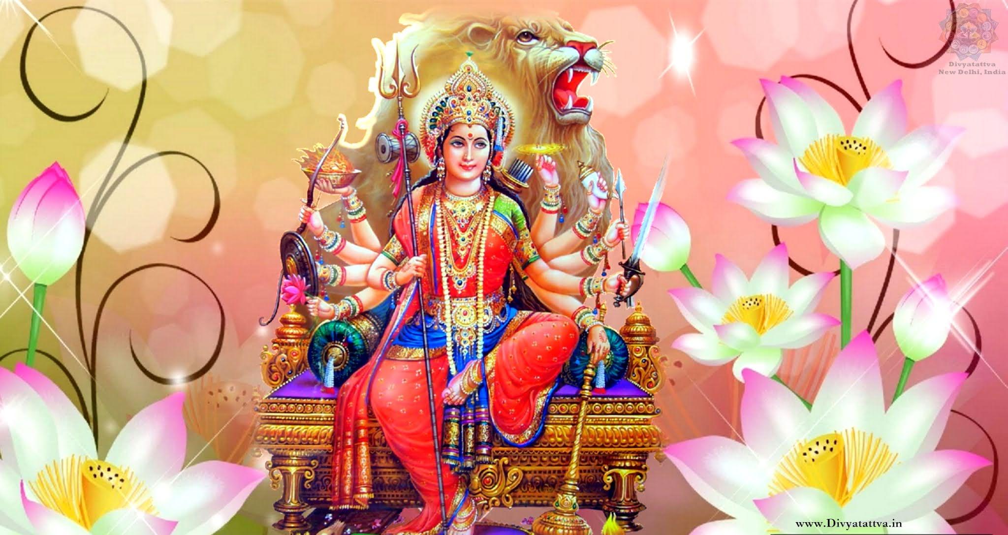 Beautiful Wallpapers of Goddess Shailputri,  Brahmacharini, Chandraghanta, Kushmanda, Skandmata, Katyayani, Kaalratri and Devi Mahagauri