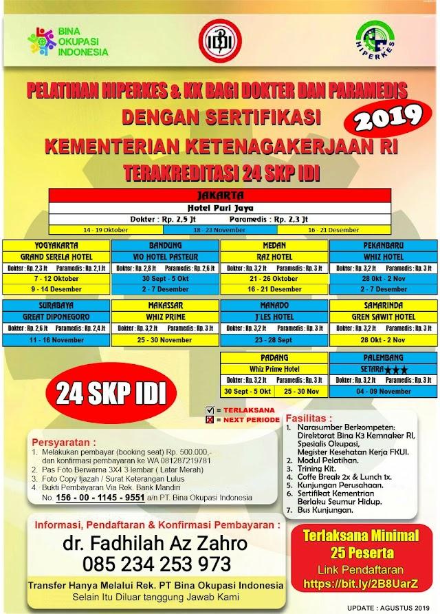Pelatihan Hiperkes Yogyakarta 2019 Untuk Dokter dan Paramedis