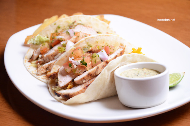 Lunch Menu 2016 @ Outback Steakhouse Malaysia - Aussie Chicken Tacos (new item – RM26.45 inclusive GST)