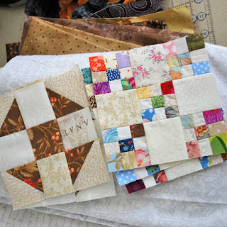 Omigosh nine patch and churn dash blocks: QuiltBee