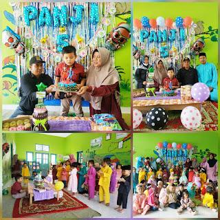 Panji Saputra Rayakan ulang tahun ke 5  Dengan Momen Ultramen di Sekolah PAUD nya