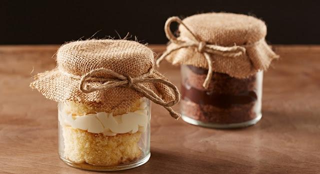 Lembrancinha potinho de bolo