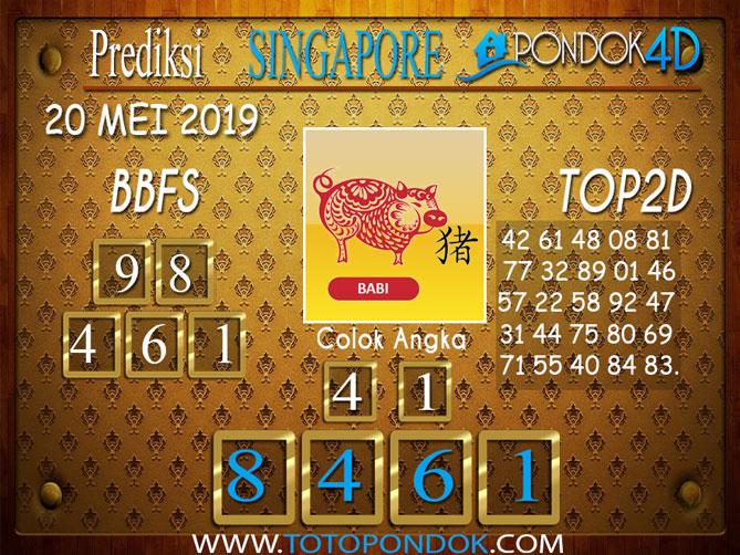 Prediksi Togel SINGAPORE PONDOK4D 1 JUNI 2019