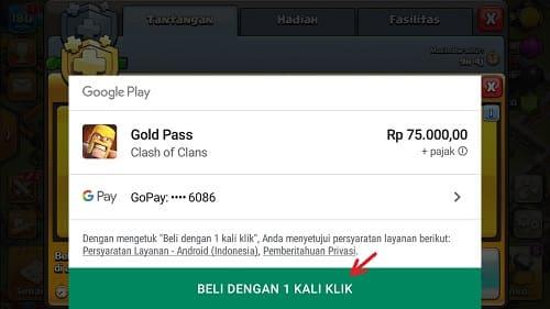 Beli Gold Pass Clash of Clans Pakai GOPAY