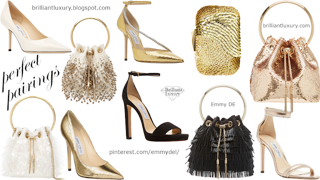 5 Perfect Pairings ♦ Jimmy Choo Evening Shoes & Bags 2020 #brilliantluxury