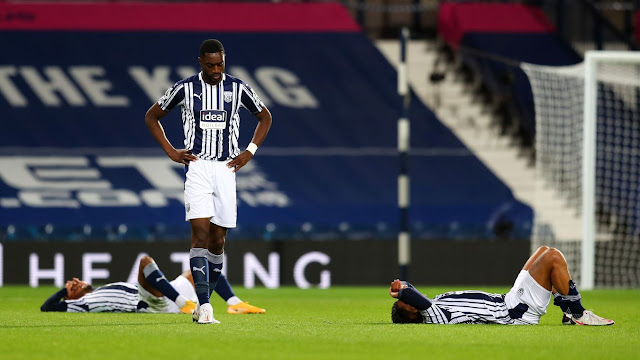 West Bromwich Albion 3-3 Chelsea: The West Brom players look deflated having surrendered a three-goal lead