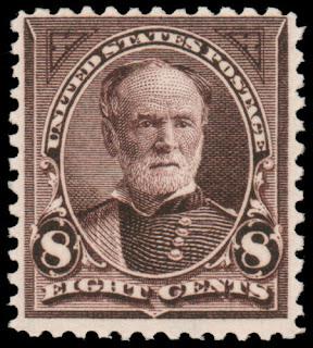 US William Sherman Violet Brown 8¢