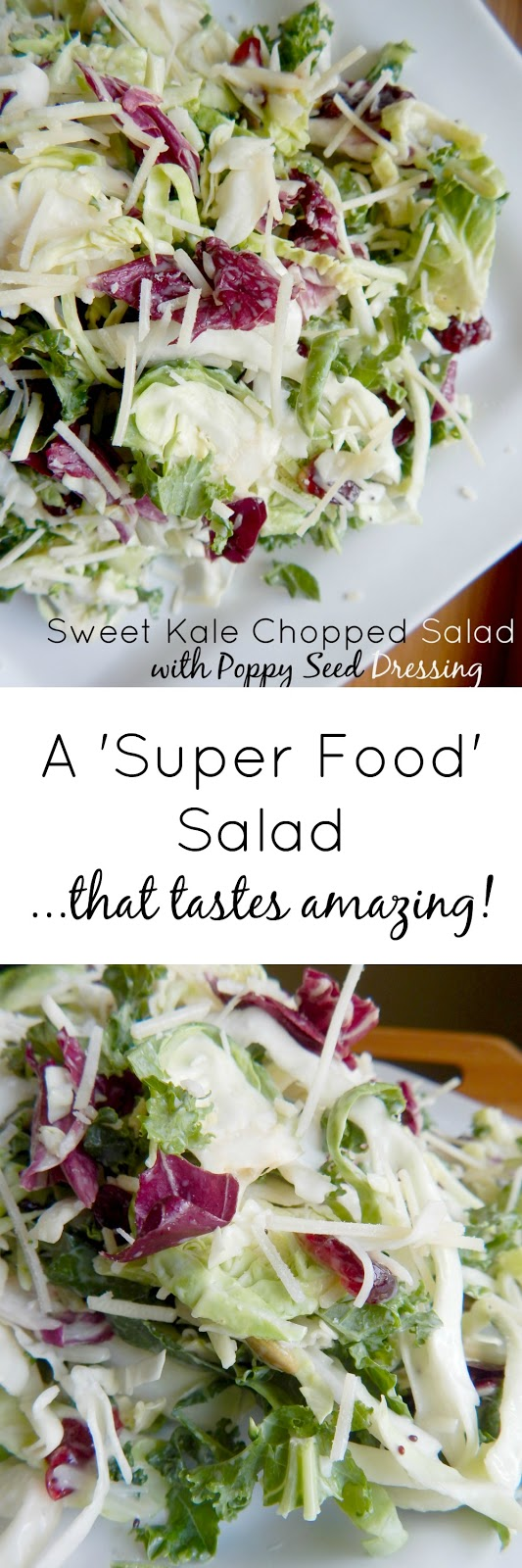 sweet kale chopped salad with poppy seed dressing (sweetandsavoryfood.com)
