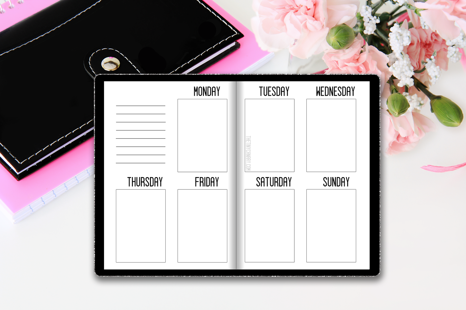 Free Printable Digital Download A6 Week On 2 Pages The Tiny Canary