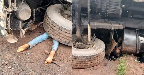 A pregnant woman and her little kid have been crushed to death by a trailer in Ebonyi State