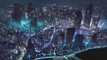 Cyberpunk, Night, City, Sci-Fi, 4K, #6.738
