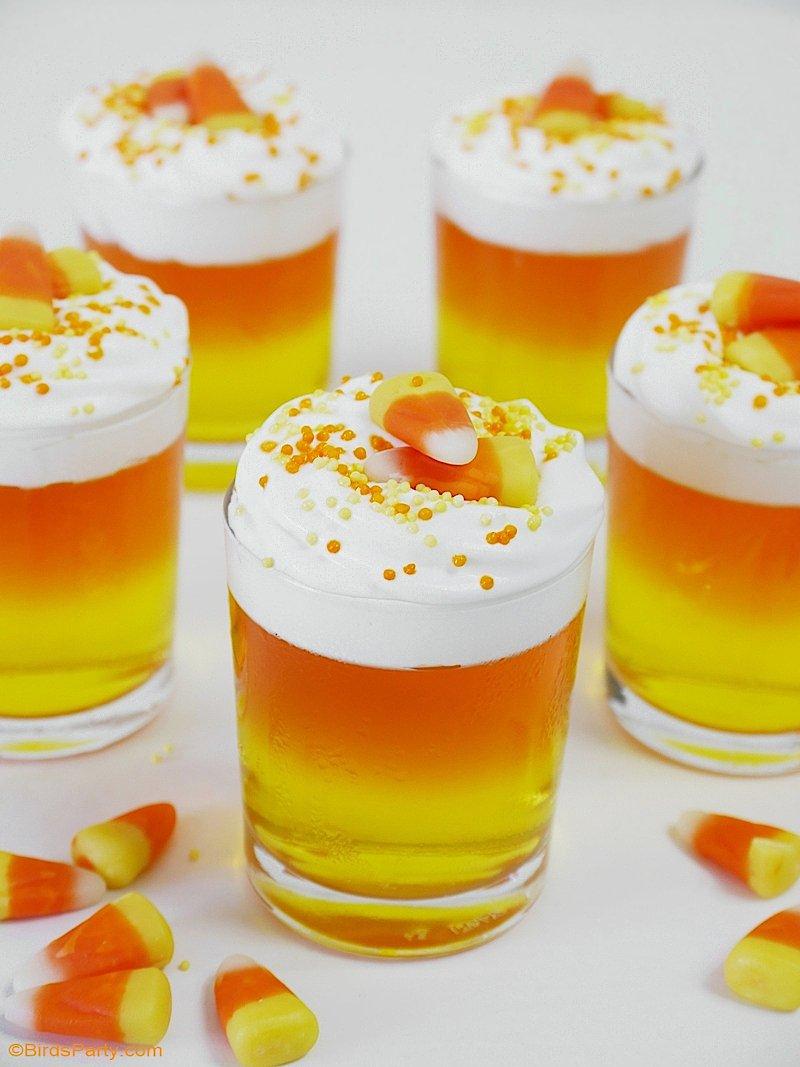 Pudding d'Halloween à la Gélatine  - une jolie recette de desserts rapide et facile à préparer, et super jolie pour votre fête d'Halloween! by BirdsParty.com @birdsparty #dessert #halloween #pudding #gelatine