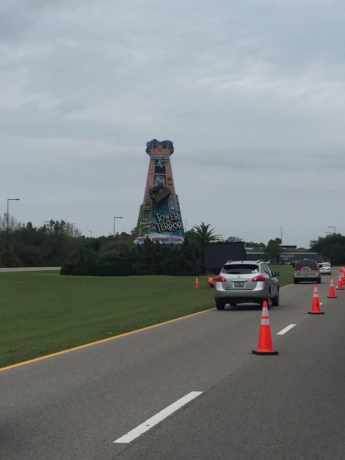 Dopey Challenge Mickey Marathon 2016 Tower of Terror Sign