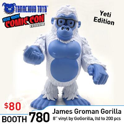 New York Comic Con 2019 Exclusive GoGORILLA Yeti Edition Vinyl Figure by James Groman x Tenacious Toys