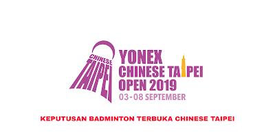 Keputusan Badminton Terbuka Chinese Taipei 2019 (Jadual)