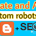 How to Create and Add Custom robots.txt in Blogger | SEO | Hindi me