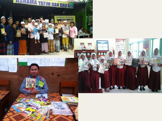 Donasi buku untuk panti asuhan