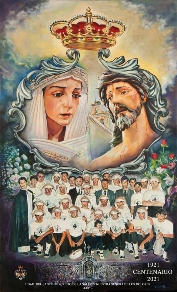 Presentado el cartel del centenario de la Hermandad de los Dolores de Lepe