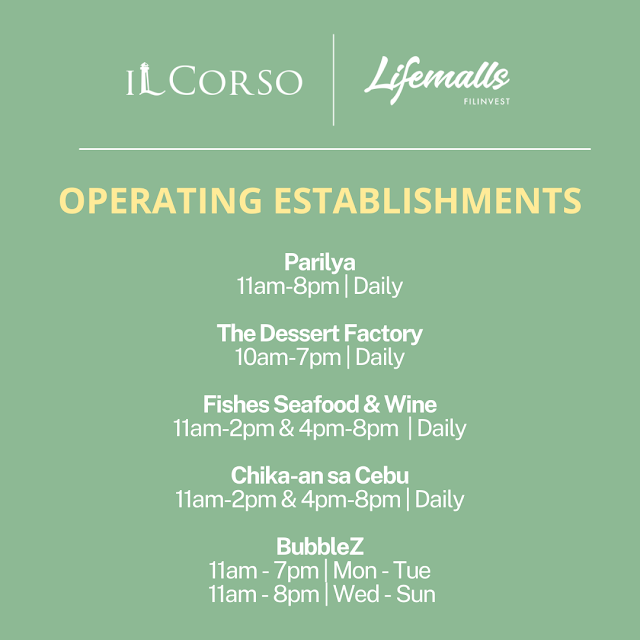 IL Corso Food Yard Operating Hours Parilya Etc